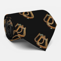 Mens Western Saddle Stirrup Print  Neck Tie