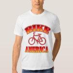 Men's White Bike America T Shirt
