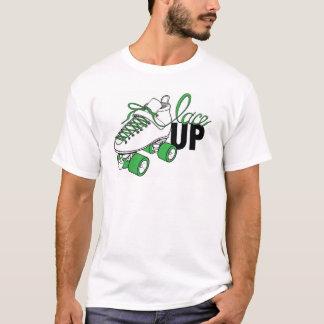 """Men's White Crew-Neck - T-shirt SVRG """"Lace Up"""""""
