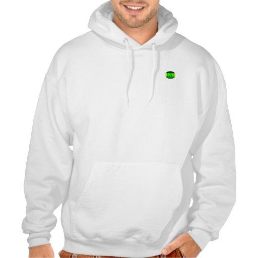 Men's White Hoodie (Green Logo)