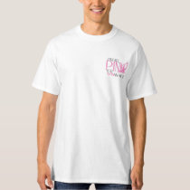 Mens (white) I Wear Pink for my Wife T-Shirt