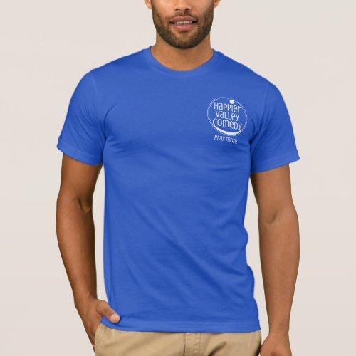 Mens White Logo T_Shirt HVC Play More