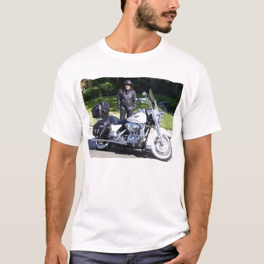 Mens White Tee Road_King