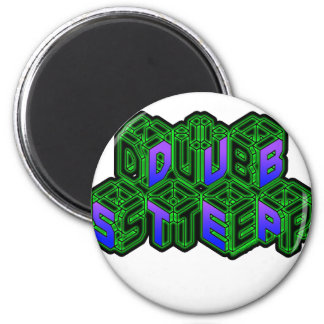Mens Womens 3D Neon Cubes logo DUBSTEP Magnet