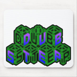 Mens Womens 3D Neon Cubes logo DUBSTEP Mouse Pad
