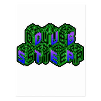 Mens Womens 3D Neon Cubes logo DUBSTEP Postcard