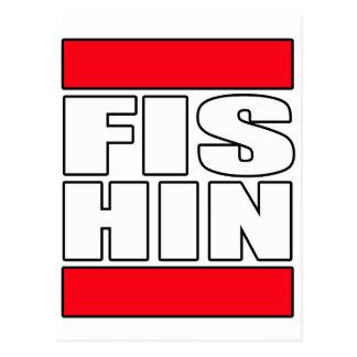 Mens womens fishin Fishing fisherman t shirt tee Postcard