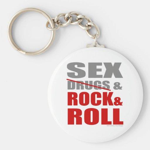 Mens Womens SEXDRUGS & ROCK ROLL Keychain