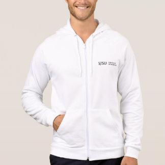 Men's Zip Hoodie - Black SJSU iSchool logo