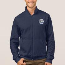 Men's zip jogger with blue mosaic jacket