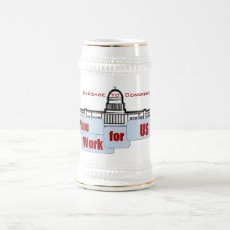 Mensaje a la taza del viaje del congreso