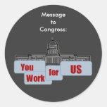Mensaje a los pegatinas del congreso