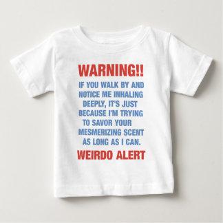 Mensaje alerta del weirdo divertido - olerle polera
