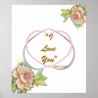 """Mensaje bíblico del amor: """"Te amo"""" poste Impresiones"""