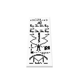 Mensaje binario 1974 de Arecibo Lienzo Envuelto Para Galerias