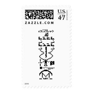Mensaje binario 1974 de Arecibo Sello Postal