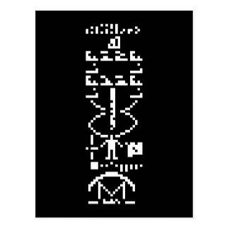 Mensaje binario 1974 de Arecibo Tarjeta Postal