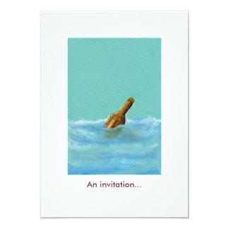 Mensaje - botella en las invitaciones invitación 12,7 x 17,8 cm