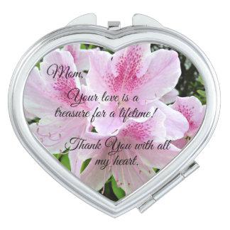 Mensaje cariñoso para la mamá espejo de viaje