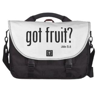 Mensaje conseguido del ministerio de la fruta bolsa de ordenador