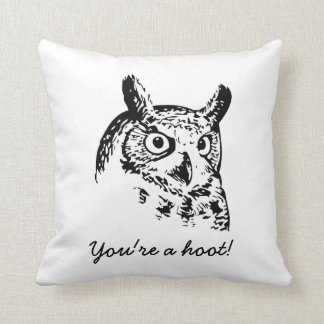 Mensaje de encargo - almohada divertida del búho cojín decorativo