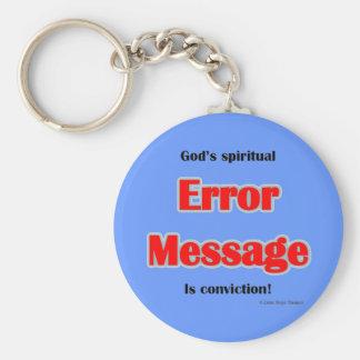 mensaje de error llavero personalizado