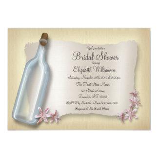 Mensaje de invitaciones nupciales de la botella de comunicados personalizados