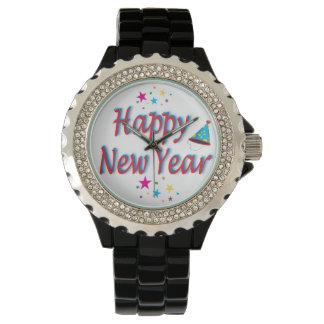 Mensaje de la Feliz Año Nuevo Reloj