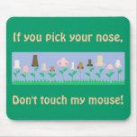 Mensaje de la higiene alfombrillas de ratones