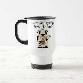 Mensaje de la manada, taza de la soja de la bebida