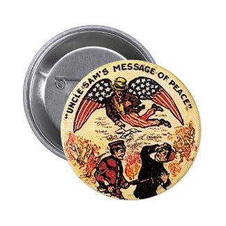 Mensaje de la paz - botón pin redondo de 2 pulgadas