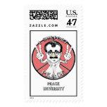 Mensaje de la paz de la mascota incógnita sello postal