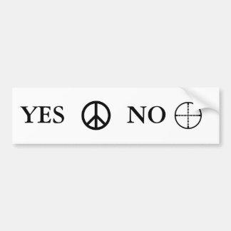 Mensaje de la paz pegatina para auto