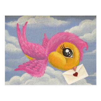 Mensaje de la postal del amor