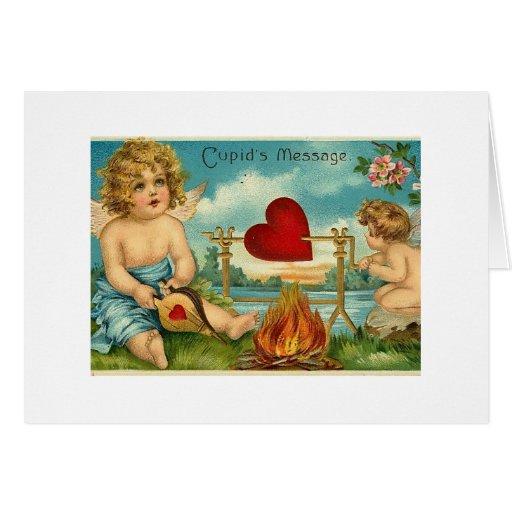 Mensaje de los Cupids Tarjeta De Felicitación
