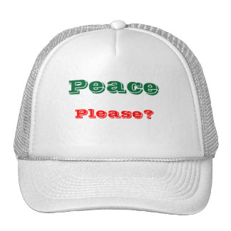 Mensaje de los gorras del camionero de la paz