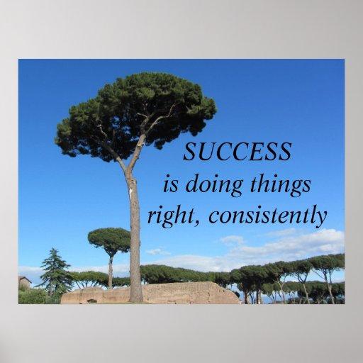 Mensaje de motivación del éxito poster