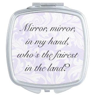 Mensaje de motivación floral de encargo de la cita espejos de viaje