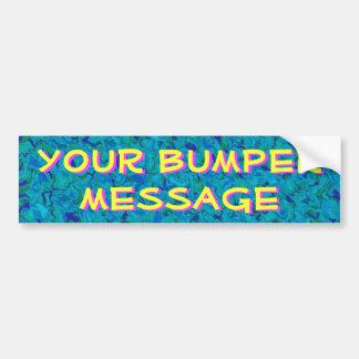 Mensaje de parachoques intrépido pegatina para auto