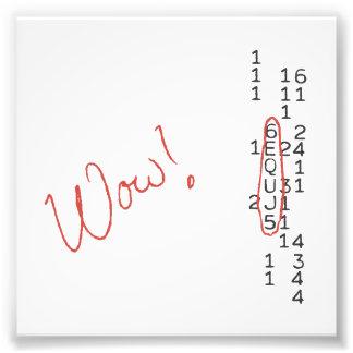 Mensaje de SETI de la señal del wow Fotografía