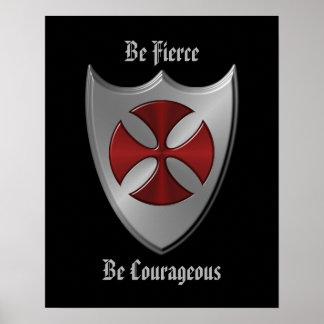 Mensaje de Templar de los caballeros Póster