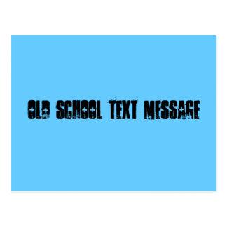 Mensaje de texto de escuela vieja postal