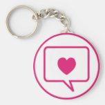 mensaje del amor llavero personalizado