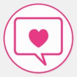 mensaje del amor pegatina redonda