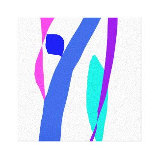 Mensaje del cielo que alcanza un pedazo anterior lienzo envuelto para galerias