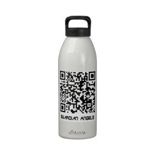 Mensaje del código de barras - sus amores del ánge botella de beber