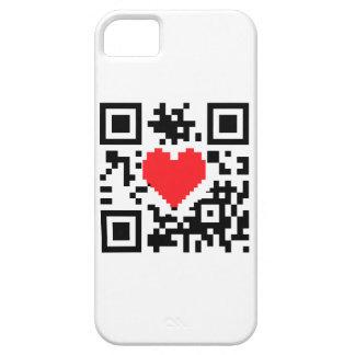 Mensaje del corazón del amor del código de QR Funda Para iPhone SE/5/5s