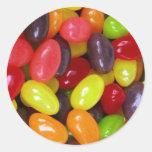 Mensaje del dulce de los Jellybeans Pegatina Redonda