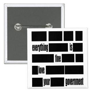 Mensaje del gobierno de Censorsed Pins