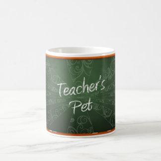 Mensaje del mascota del profesor en la pizarra taza clásica